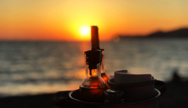 Strand Taverne Vlychada Beach Santorini
