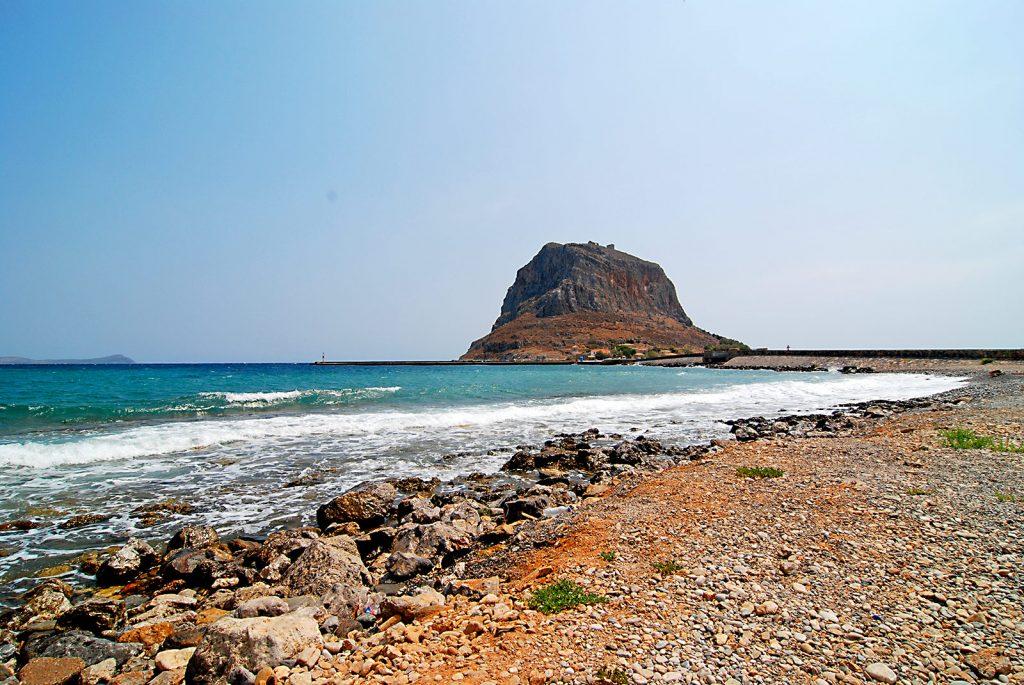 Der Strand von Monemvasia, Foto: Joern Pfannkuch für Griechenlandprofi.com